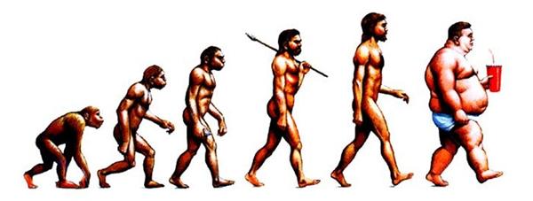 Đồ ngọt, thức ăn nhanh...là tác nhân ảnh hưởng tới tiến hóa? (Ảnh: Bored Panda)