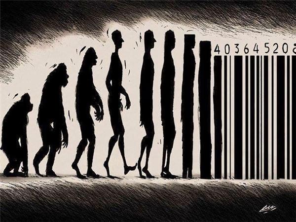 Công nghệ đang biến chúng ta thành cỗ máy? (Ảnh: Bored Panda)