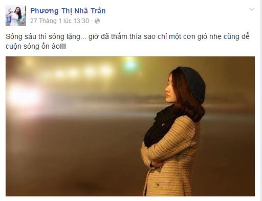 """Nhã Phương vẫn thỉnh thoảng đăng tải vài dòng trạng thái vu vơ nhưng khiến fan vô cùng lo lắng không biết có phải ám chỉ """"Giang ca"""" của họ hay không! - Tin sao Viet - Tin tuc sao Viet - Scandal sao Viet - Tin tuc cua Sao - Tin cua Sao"""