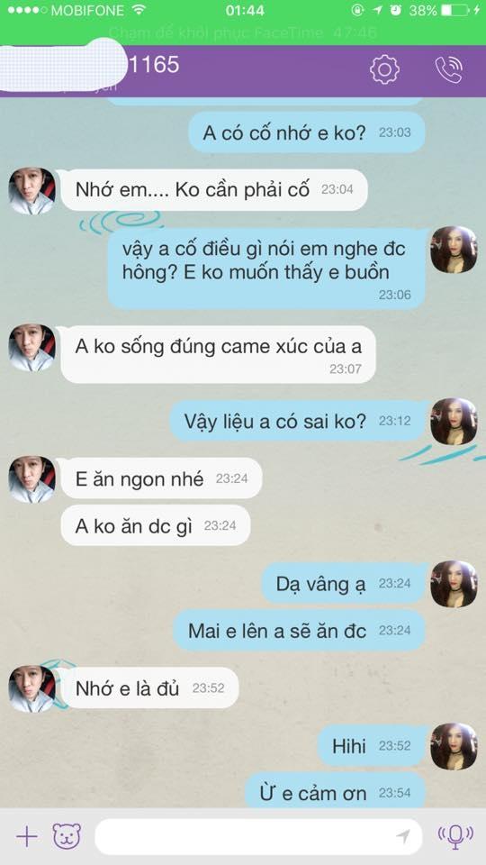"""Cả hai liên tục trao đổi những tin nhắn thân mật và đầy tình cảm, thể hiện cho một mối quan hệ """"trên mức tình bạn"""". - Tin sao Viet - Tin tuc sao Viet - Scandal sao Viet - Tin tuc cua Sao - Tin cua Sao"""