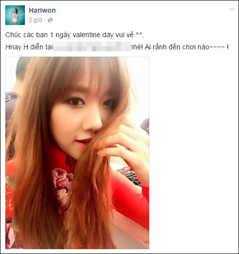 """Trong khi đó, Hari Won lại tất bật chạy show và """"tươi rói"""" selfie cùng áo dài đỏ nổi bật. - Tin sao Viet - Tin tuc sao Viet - Scandal sao Viet - Tin tuc cua Sao - Tin cua Sao"""