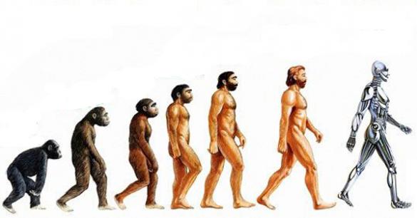 Theo Ian, chu trình phát triển của loài người sẽ từAustralopithecus afarensis (họ người hominid đầu tiên), Homo habilis, Homo erectus, Homo sapiens (người thông minh) và đến năm 2050 sẽ là Homo Optimus (siêu nhân tối thượng). (Ảnh: Internet)