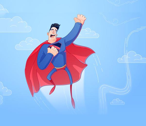 Siêu nhân đúng là siêu nhân, ngay cả khi ngủ cũng không quên bay làm nhiệm vụ. (Ảnh: Internet)