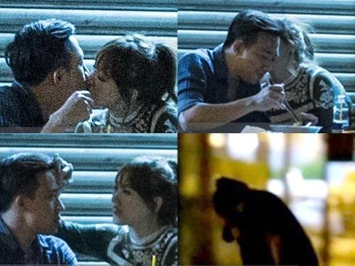 Trấn Thành và Hari Won bị bắt gặp hôn nhau khi đi ăn khuya. Ảnh: Trí thức trẻ. - Tin sao Viet - Tin tuc sao Viet - Scandal sao Viet - Tin tuc cua Sao - Tin cua Sao