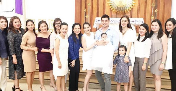 Con mĩ nhân đẹp nhất Philippines cực đáng yêu trong lễ rửa tội
