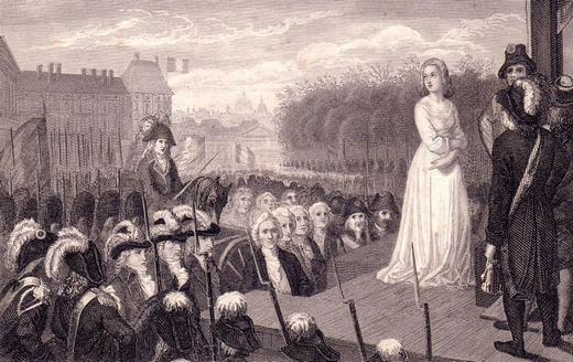 Vua Louis XVI và vợ Marie Antoinettebị xử tử. (Ảnh: Internet)