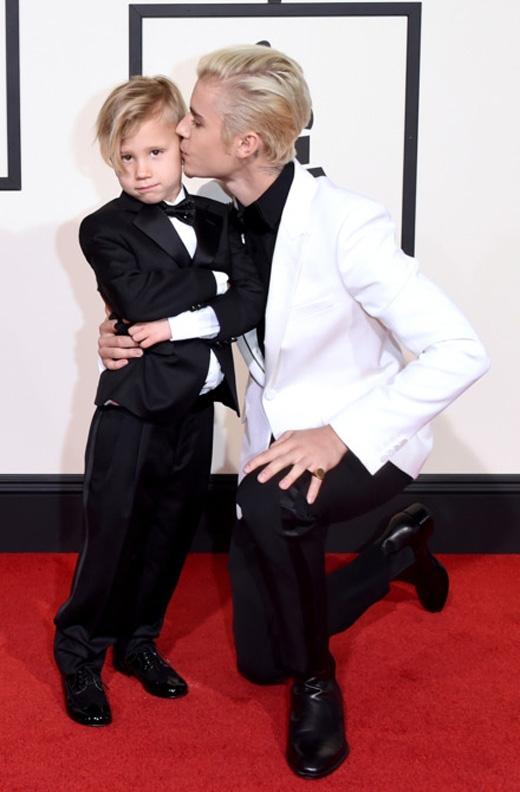 Justin Bieber và em trai JaxonBieber(Ảnh: Getty Images)