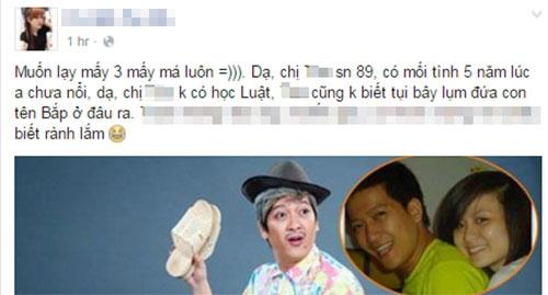 Trạng thái minh oan cho Trường Giang. (Ảnh: Internet) - Tin sao Viet - Tin tuc sao Viet - Scandal sao Viet - Tin tuc cua Sao - Tin cua Sao