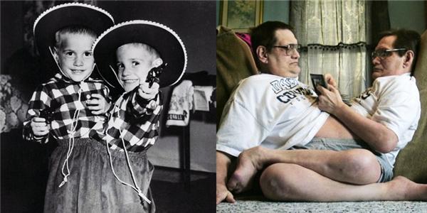 Donnie và Ronnie lúc nhỏ và lớn. (Ảnh: Internet)