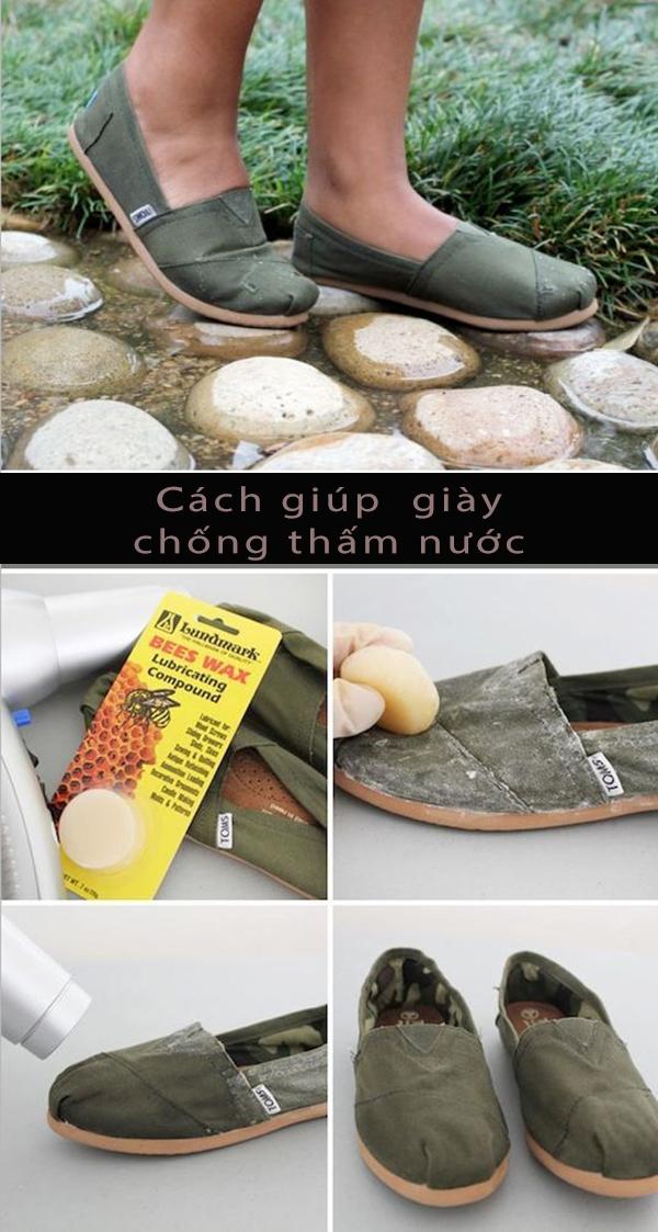 Hãy đánh sáp ong lên bề mặt đôi giày vải, sau đó sấy khô, vậy làcó thể giúp giày không bị thấm nước. (Ảnh: Internet)