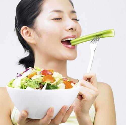 Nếu muốn có vóc dáng thon thả hãy ăn nhiều rau xanh (Ảnh: Internet)