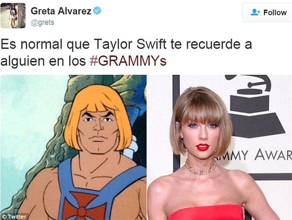 Taylor Swift được đem ra so sách với chiến binh He-Man. (Ảnh: Internet)