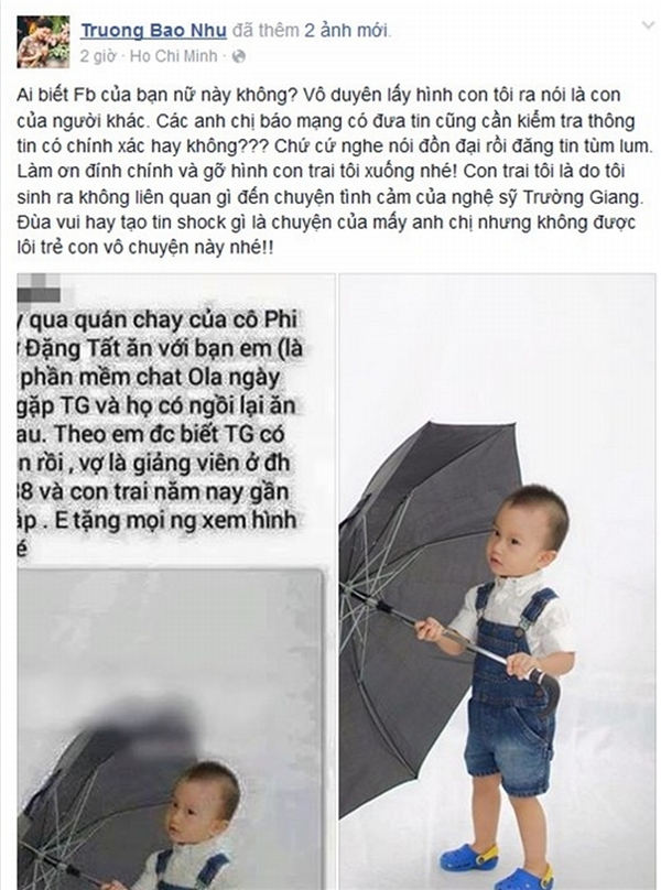 Dòng trạng thái đầy bức xúc của chị Bảo Như trên mạng xã hội. (Ảnh: Internet) - Tin sao Viet - Tin tuc sao Viet - Scandal sao Viet - Tin tuc cua Sao - Tin cua Sao