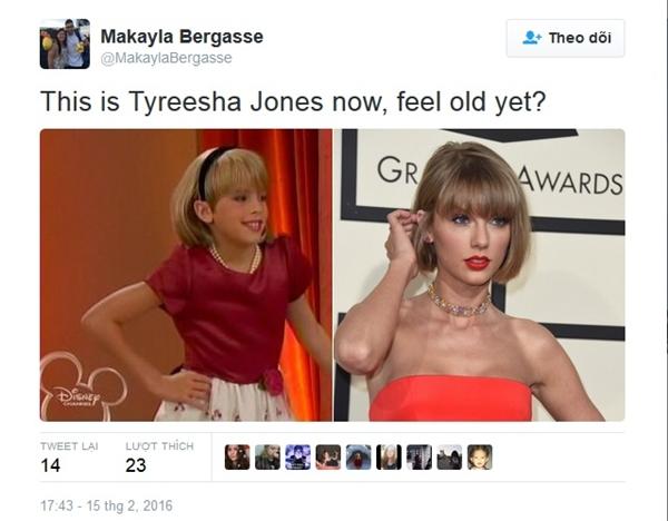 Người này còn cho rằng Taylor chính là phiên bản Tyreesha Jones lúc trưởng thành. (Ảnh: Internet)