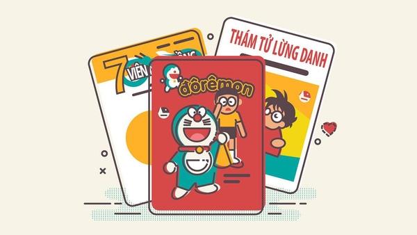 Những bộ truyện tranh 1 thời lừng lẫy: 7 viên ngọc rồng, Doremon, Conan.