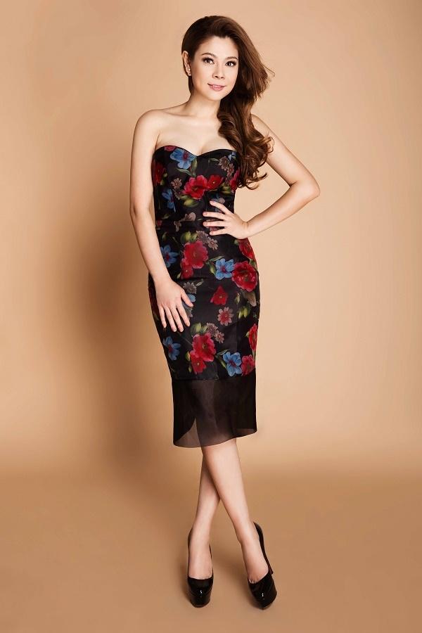 Thanh Thảo ngọt ngào, cuốn hút với váy hoa