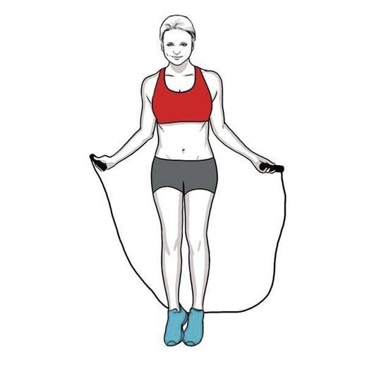 Nhảy dây là bài tập đốt nhiều calo và giúp kéo giãn cơ tốt nhất.(Ảnh: Internet)