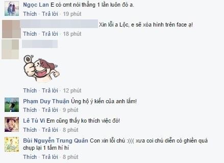 Rất nhiều nghệ sĩ như nữ diễn viênTú Vi, nữ diễn viênNgọc Lan, nam ca sĩ Trung Quân Idol, nam ca sĩJun (365 Band) đã lên tiếng ủng hộThành Lộc. - Tin sao Viet - Tin tuc sao Viet - Scandal sao Viet - Tin tuc cua Sao - Tin cua Sao