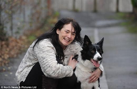 Chú chó này đã phát hiện một khối u vú nguy hiểm trong ngực chủ mình. (Ảnh: Daily Mail)