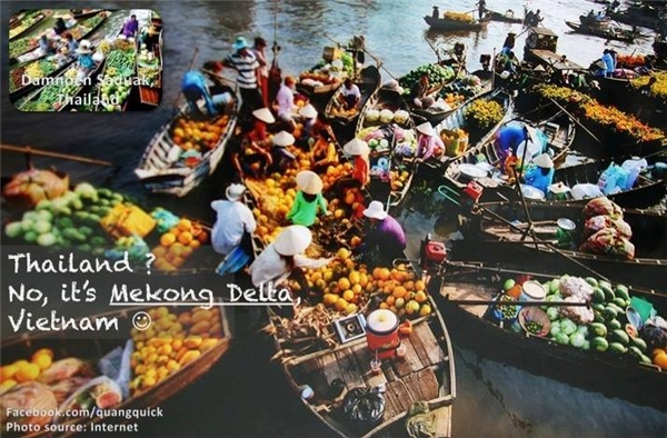Chợ nổi Cái Răng cũng sinh động và tràn ngập màu sắc như chợ nổi Amphawa ở Thái Lan vậy.(Ảnh: Quang Quick)
