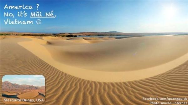 Đồi cát Mũi Né là đây, đẹp không kém gì đồi cát Mesquite ở Mĩ nhé.(Ảnh: Quang Quick)