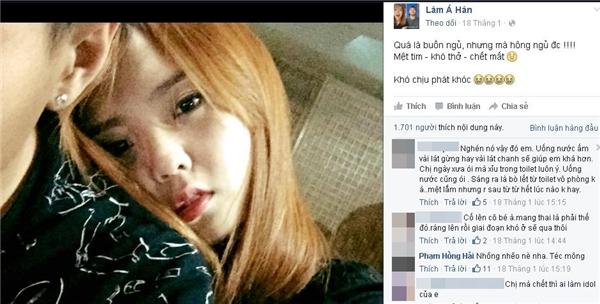 Sau nghi vấn mang bầu, có tin Lâm Á Hân đã hạ sinh hôm qua
