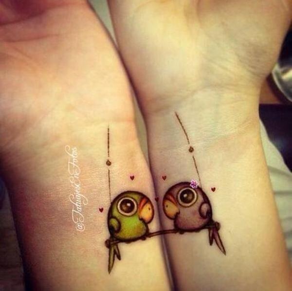 Đôi chim bên nhau. (Ảnh: Internet)