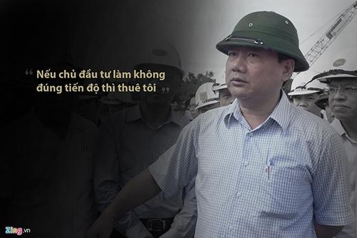 Ngày 12/8/2015, Bộ trưởng Đinh La Thăng trao đổi với các nhà thầu về dự án mở rộng nhà ga quốc tế sân bay Đà Nẵng. Nhờ sự quyết liệt của Bộ trưởng Thăng, những năm qua, các công trình giao thông đều có thay đổi tích cực về mặt tiến độ. (Ảnh: Zing.vn)