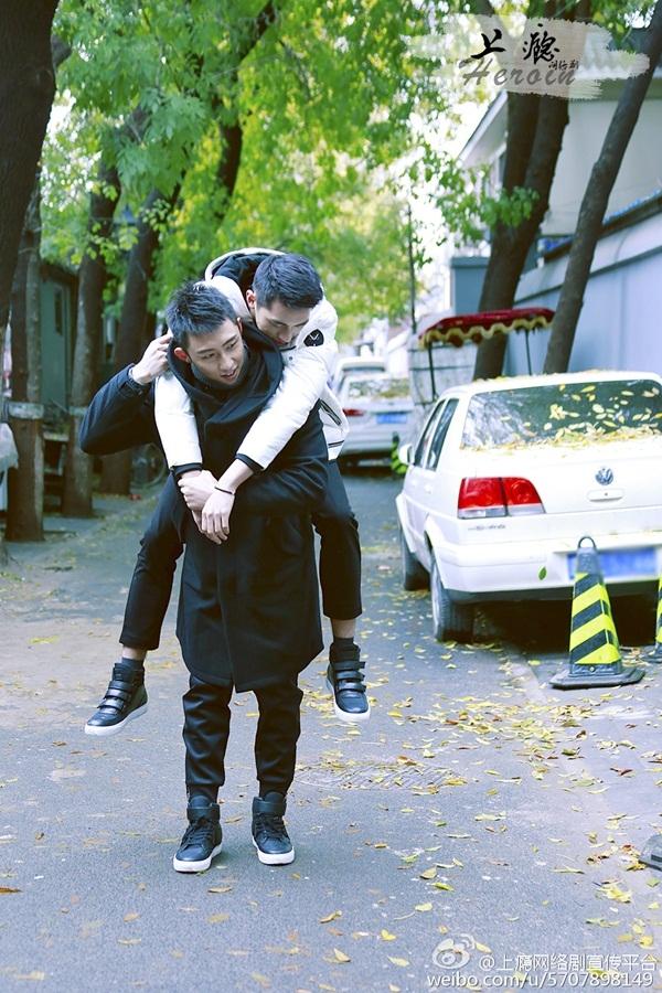 2 nam chính trong phim truyền hình mạng Thượng Ẩn.