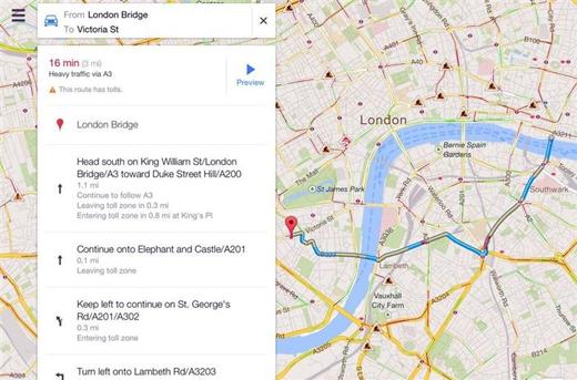 Chụp lại màn hình bản đồ đường đi mà bạn vừa tìm, đề phòng trường hợp mất kết nối Internet. (Ảnh: Internet)