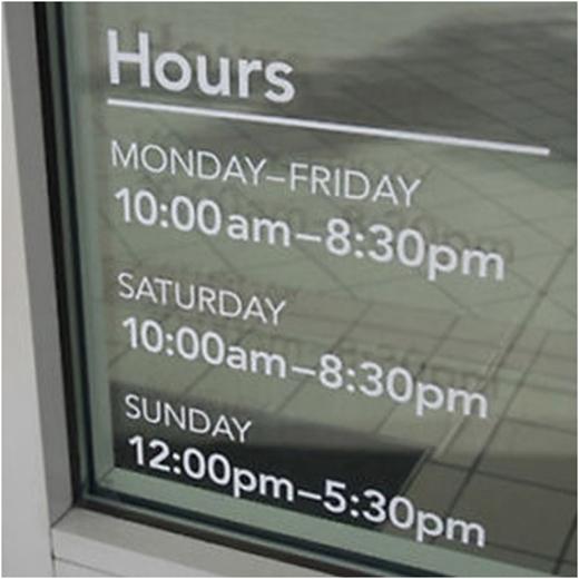 Chụp lại giờ mở cửa của các văn phòng kinh doanh nếu bạn không thể nhớ. (Ảnh: Internet)
