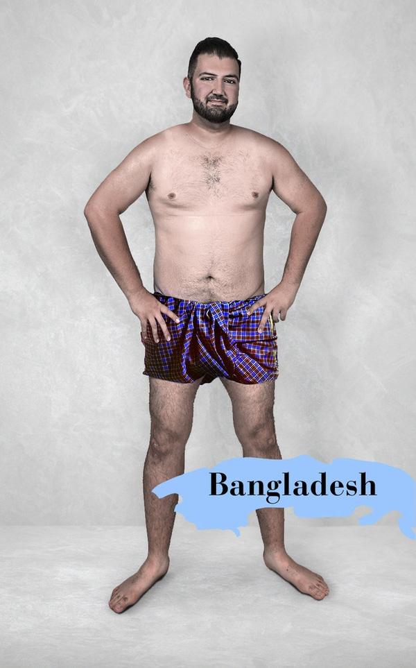 Người Bangladesh không quá khắt khe về ngoại hình đàn ông. Chỉ cần săn chắc là đẹp, không nhất thiết phải rõ từng đường nét cơ bắp hay bắp tay to như cái lọ hoa.