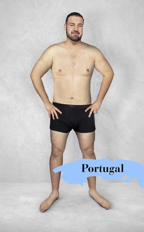 """Người Bồ Đào Nha có vẻ thích phong cách """"phồn thực"""" với chuẩn mực sắc đẹp lý tưởng là cơ thể đàn ông bắt đầu phát tướng ở tuổi chớm đầu 5."""