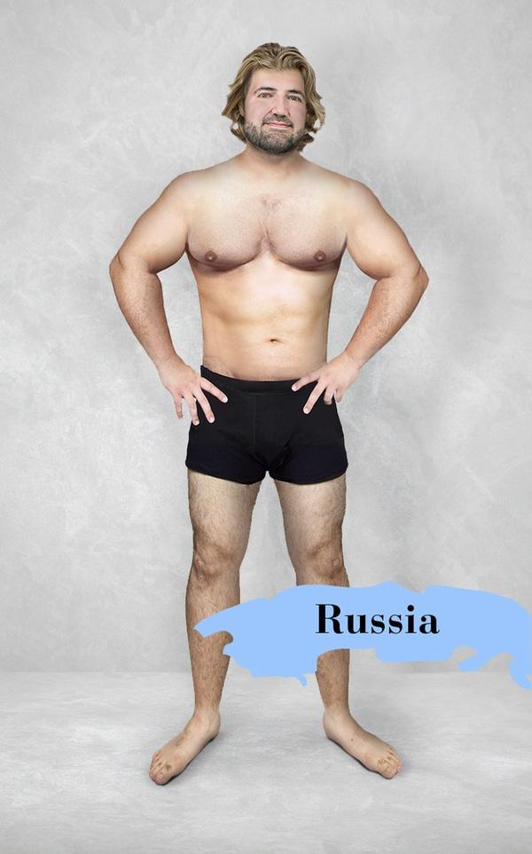 Một trong số ít những quốc gia đặt ra chuẩn mực không chỉ là về cơ thể mà còn là mái tóc, nước Nga muốn đàn ông đẹp trai phải ngực nở tay to, da trắng, tóc bồng bềnh y như hoàng tử trong truyện cổ tích.