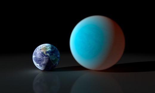 Hành tinh mới được phát hiện nằm khá gần và to gấp đôiTrái đất. (Ảnh: Internet)