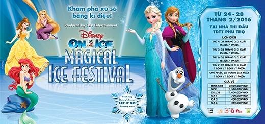 """Tin vui cho các fan """"ruột"""" của Disney là vào ngày 24 -28/2 này, show diễn """"hàng khủng"""" này chính thức đổ bộ vào Việt Nam, mang theo những điều hấp dẫn từ 5 nàng công chúa nổi tiếng: Ariel, Rapunzel, cặp đôi chị em hoàng gia Elsa-Anna, và Belle cùng những người bạn vui nhộn như: Mickey, Minnie, Goofy, Donald,…"""