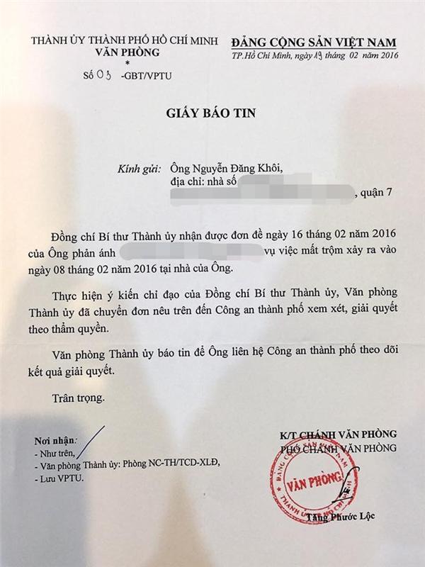 Nội dung thư hỏa tốc từ Bí thư Thành ủy Đinh La Thăng. - Tin sao Viet - Tin tuc sao Viet - Scandal sao Viet - Tin tuc cua Sao - Tin cua Sao