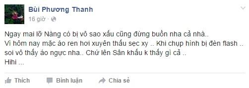 Thu Minh và Phương Thanh đồng loạt lên tiếng về sự cố hi hữu trên sóng truyền hình quốc gia. - Tin sao Viet - Tin tuc sao Viet - Scandal sao Viet - Tin tuc cua Sao - Tin cua Sao