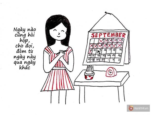 Trước ngày người ta về, bạn hầu như chỉ nhìn mỗi lịch.