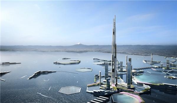 Sky Mile Tower sẽ là một khu phức hợp với rất nhiều công trình khác nhau, tỏa ra các hướng và có đường kính 1,5km. Ngoài tòa tháp, các công trình còn lại có hình lục giác. (Ảnh: Tech Insider)