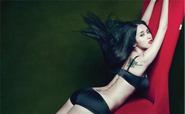 Nữ diễn viên Tú Vitáo bạo chụp ảnh với nội y để lộ ra những hình xăm trên cơ thể - Tin sao Viet - Tin tuc sao Viet - Scandal sao Viet - Tin tuc cua Sao - Tin cua Sao