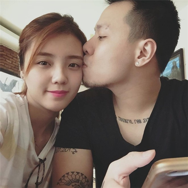Những hình ảnh cặp đôi siêu đáng yêu của Á Hân và Hồng Hải. (Ảnh: Internet)