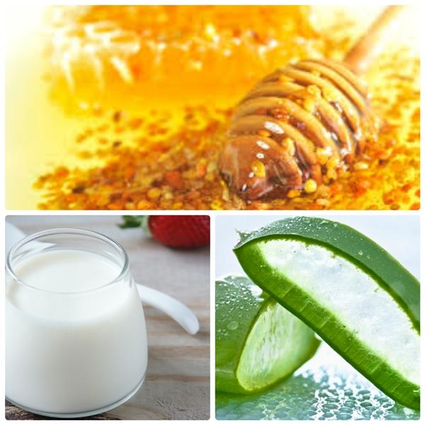 Hỗn hợp sữa chua, mật ong và nha đam giúp bạn ngăn ngừa và trị mụn. (Ảnh: Internet)