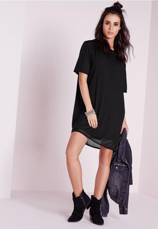Ai cũng có thể diện đầm đen, không riêng gì những cô nàng cá tính. (Ảnh: missguided)