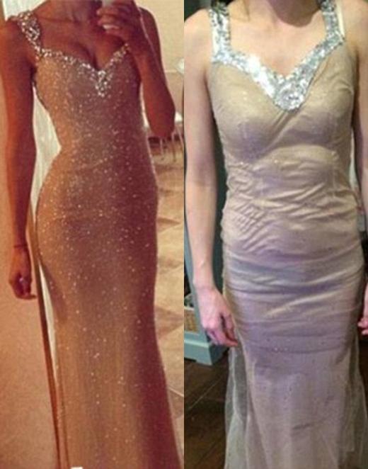 Chiếc đầm nhái này thực sự còn thua xa trang phục cosplay. (Ảnh: Internet)
