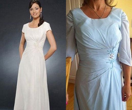 Chiếc đầm ăn theo này trông như bộ đầm bạn nhận được từ bà ngoại rồi cố chỉnh sửa cho vừa với khổ người mình vậy. (Ảnh: Internet)