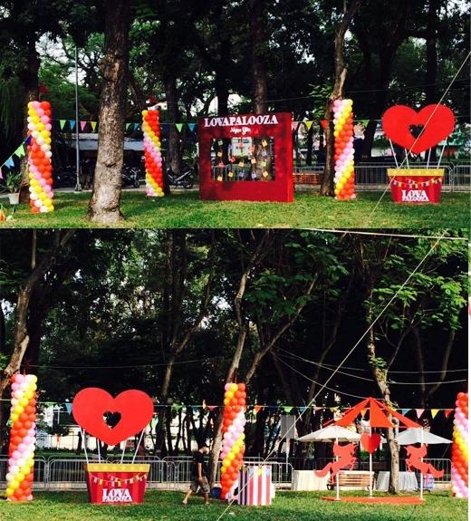 Công viên Lê Văn Tám đã được biến thành một công viên tình yêu rực rỡ với hơn 20 khu hoạt động vui chơi, giải trí đặc sắc suốttừ sáng tới đêm.