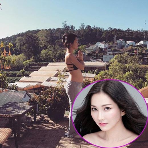 Bà bầu Kim Hiền vẫn đều dặn tập yoga để giữ sức khỏe cho cả mẹ và con. (Ảnh: Internet) - Tin sao Viet - Tin tuc sao Viet - Scandal sao Viet - Tin tuc cua Sao - Tin cua Sao