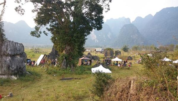 """Hình ảnh phim trường Kong: Skull Island được đăng trong bài viết có tên Đột nhập phim trường """"King Kong 2"""" tại Quảng Bình đăng tải trên một số báo điện tử sáng nay.(Ảnh: Internet)"""