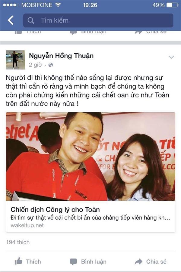 Nhạc sĩ Nguyễn Hồng Thuận hy vọng sự thật cần được rõ ràng, minh bạch. (Ảnh: Internet)
